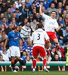 Carl Finnigan celebrates his goal for Falkirk