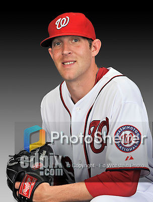 25 February 2011: Ryan Mattheus poses for his Washington Nationals Photo Day portrait at Space Coast Stadium in Viera, Florida. Mandatory Credit: Ed Wolfstein Photo