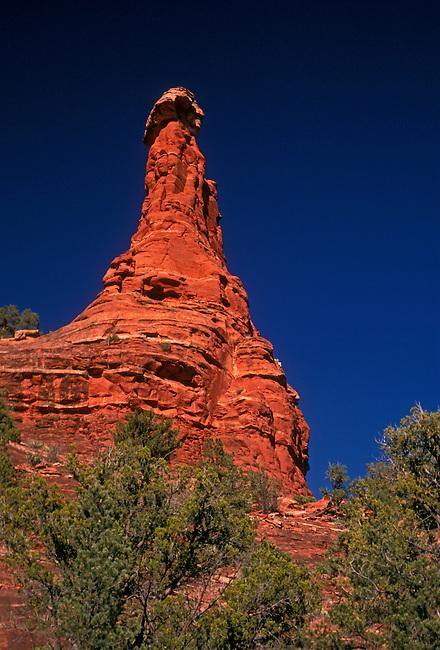 Hoodoo in Boynton Canyon near Sedona, Arizona, United States, North America