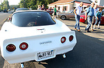 OXFORD CT. 16 August 2017-081617SV03-A 1981 Corvette sits in the parking lot as people check out the classic cars at Fritz&rsquo;s Snack Bar in Oxford Wednesday. Fritz&rsquo;s has a cruise night every Wednesday 5-9 in the summer.<br /> Steven Valenti Republican-American