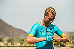 Magnus Cort Nielsen (DEN) Astana Pro Team prepares before the start of Stage 4 of 10th Tour of Oman 2019, running 131km from Yiti (Al Sifah) to Oman Convention and Exhibition Centre, Oman. 19th February 2019.<br /> Picture: ASO/K&aring;re Dehlie Thorstad | Cyclefile<br /> All photos usage must carry mandatory copyright credit (&copy; Cyclefile | ASO/K&aring;re Dehlie Thorstad)