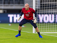 WASHINGTON, DC - OCTOBER 11: Brad Guzan #1 of the United States warms up during a game between Cuba and USMNT at Audi Field on October 11, 2019 in Washington, DC.