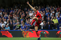 Huddersfield Town's Chris Lowe tries to get the attention of of referee, Lee Mason, so he can have some treatment during Chelsea vs Huddersfield Town, Premier League Football at Stamford Bridge on 9th May 2018
