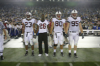 1 October 2006: Captains Brandon Harrison, Anthony Kimble, Erik Lorig, and Chris Horn during Stanford's 31-0 loss to UCLA at the Rose Bowl in Pasadena, CA.