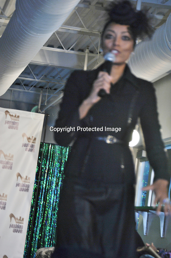 Miyoshi Anderson The Exective Director and Founder of Pittsburgh Fashion Week MC The Event of FIVE Designer's Showcase Fashions Show
