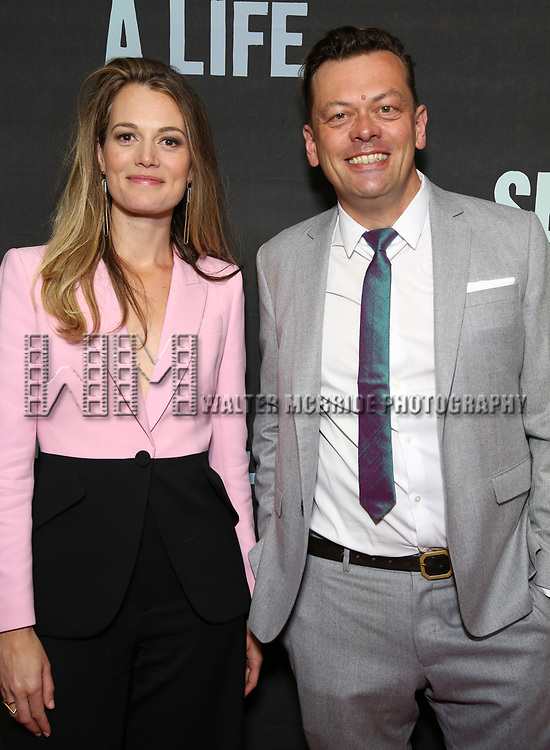 """Carrie Cracknell and Simon Stephens attend the Broadway Opening Night performance of """"Sea Wall / A Life"""" at the Hudson Theatre on August 08, 2019 in New York City."""