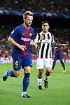 UEFA Champions League 2017/2018 - Matchday 1.<br /> FC Barcelona vs Juventus Football Club: 3-0.<br /> Ivan Rakitic &amp; Paulo Dybala.