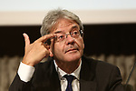 Former Italian Prime Minister Paolo Gentiloni visit Trento some days before Provincial election in Trentino, North Italy, on October 18, 2018.