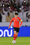 Son Heungmin of South Korea (C) in action during the AFC Asian Cup UAE 2019 Quarter Finals match between Qatar (QAT) and South Korea (KOR) at Zayed Sports City Stadium  on 25 January 2019 in Abu Dhabi, United Arab Emirates. Photo by Marcio Rodrigo Machado / Power Sport Images