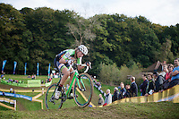 Sophie De Boer (NLD) leading<br /> <br /> GP Mario De Clercq<br /> Hotondcross 2014