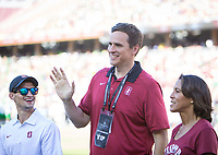Stanford, CA - September 21, 2019: Mark Madsen at Stanford Stadium. The Stanford Cardinal fell to the Oregon Ducks 21-6.