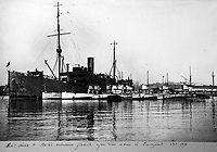BNPS.co.uk (01202 558833)<br /> Pic Lawrences/BNPS<br /> <br /> Submarines after the war in Devonport in 1919.<br /> <br /> Fascinating early photos of submarine warfare featuring close quarters views of German battleships have come to light 100 years later.<br /> <br /> The photo albums were collated by British Commander Maurice Bailward who documented every stage of his naval career.<br /> <br /> Cmdr Bailward attended Royal Naval College in Osborne, Isle of Wight, from 1906 and 1908, the same time as Edward, the Prince of Wales.<br /> <br /> He was involved in many of the major sea battles of World War Two as well as the British effort to help the Whites during the Russian Civil War of 1919.<br /> <br /> The albums have emerged for sale at auction from a family descendant with Lawrences Auctioneers, of Crewkerne, Somerset.