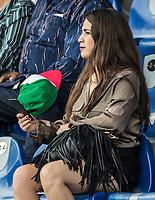 Aficionada.<br /> Partido de beisbol de la Serie del Caribe con el encuentro entre los Alazanes de Gamma de Cuba contra los Criollos de Caguas de Puerto Rico en estadio de los Charros de Jalisco en Guadalajara, M&eacute;xico, Martes 6 feb 2018. <br /> (Foto: AP/Luis Gutierrez)