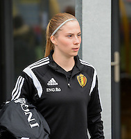 20150523 - SINT-TRUIDEN ,  BELGIUM : Belgian Jana Coryn pictured during the friendly soccer game between the Belgian Red Flames and Norway, a preparation game for Norway for the Women's 2015 World Cup, Saturday 23 May 2015 at Staaien in Sint-Truiden , Belgium. PHOTO DAVID CATRY