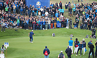 Jon Rahm (Team Europe) wins the hole on the 8th during Friday's Fourballs, at the Ryder Cup, Le Golf National, Îls-de-France, France. 28/09/2018.<br /> Picture David Lloyd / Golffile.ie<br /> <br /> All photo usage must carry mandatory copyright credit (© Golffile | David Lloyd)