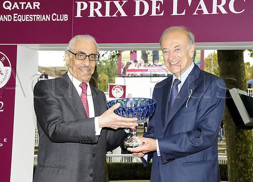 06.10.2012. Longchamps Racecourse, France. Bertrand Belinguier Khalid Abdullah  Qatar Prix  Longchamp  Course