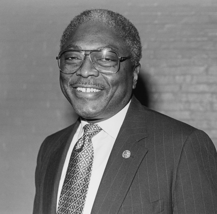 Rep. Jim Clyburn, D-S.C. on Feb. 14, 1994. (Photo by Maureen Keating/CQ Roll Call)