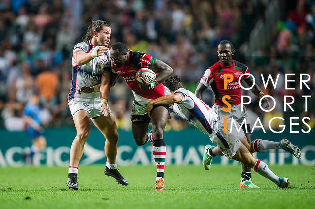 United States vs Kenya during the HSBC Sevens Wold Series match as part of the Cathay Pacific / HSBC Hong Kong Sevens at the Hong Kong Stadium on 27 March 2015 in Hong Kong, China. Photo by Xaume Olleros / Power Sport Images