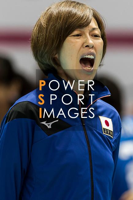 Head coach Kumi Nakada of Japan celebrates winning after the FIVB Volleyball World Grand Prix - Hong Kong 2017 match between Japan and Russia on 23 July 2017, in Hong Kong, China. Photo by Yu Chun Christopher Wong / Power Sport Images