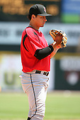 May 13, 2009:  Third Baseman Luis Cruz of the Indianapolis Indians, International League Class-AAA affiliate of the Pittsburgh Pirates, in the field during a game at Frontier Field in Rochester, FL.  Photo by:  Mike Janes/Four Seam Images