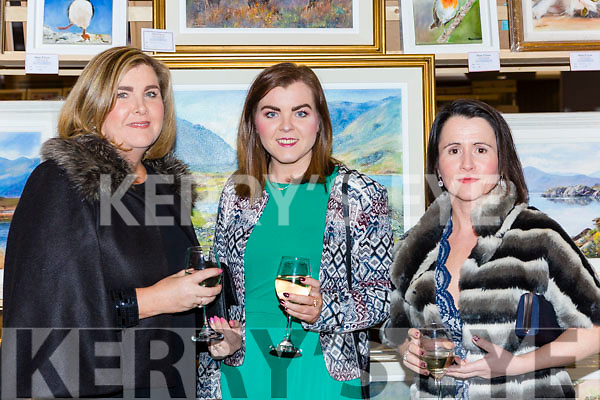 Marie Buckley, Claudia Buckley and Lisa O'Leary at the Killarney Rotary club Wine and Art night in the Malton Hotel on Thursday night