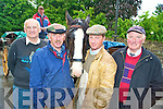 Killarney jarveys Patrick O'Sullivan, Dan Ferris, Paul Tangney, Martin McCarthy and Pat Joy, who are anxious to resolve the dung catching device issue with the National Park Service..........