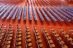 Fieldhouse with graduation chairs. Susquehanna University.