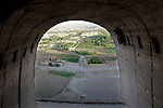 Looking out from the top of the western Buddha niche on May 30, 2011, in Bamiyan, Afghanistan.  The Taliban destroyed the large Buddha statue that once stood here.  Photo by Ted Richardson