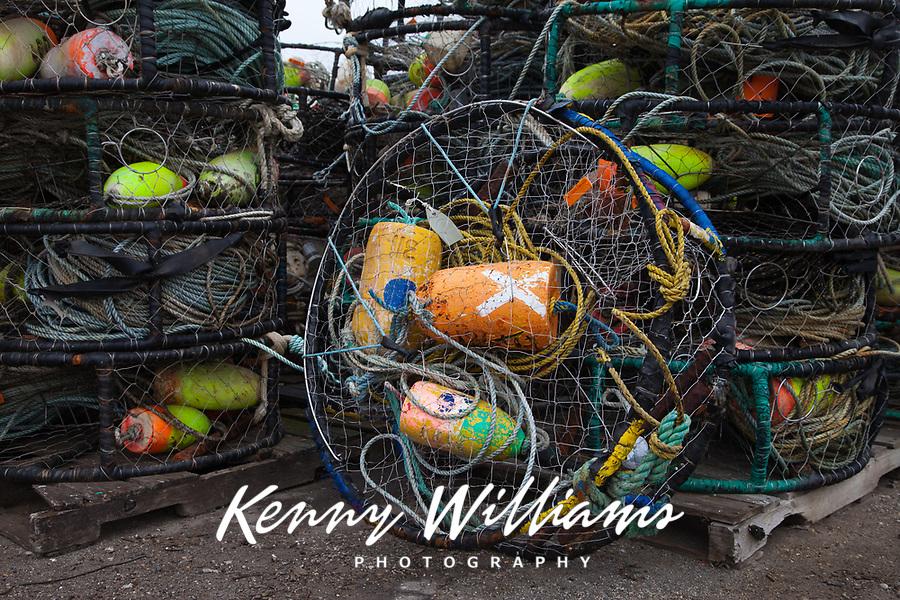 Stacks of Crab Pots, Crabbing Traps, Port of Astoria, Oregon