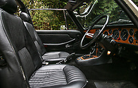 BNPS.co.uk (01202 558833)<br /> Pic: Historics/BNPS<br /> <br /> Seventies vinyl trim - the immaculate motor was bought as a birthday present for the ex footballer in 2012.<br /> <br /> A classic sports car belonging to former England international footballer Gerry Francis has emerged for sale for £20,000.<br /> <br /> The 1976 Triumph Stag has been with Francis since 2012 when it was given to him as a surprise gift from his son.<br /> <br /> It is identical to another motor the ex QPR midfielder owned during the height of his playing career in the 1970s.