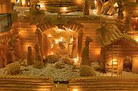 Roma 22 Novembre 2012.Inaugurata l'esposizione intermazionale 100 Presepi.Il presepe di pasta alimentare e riso di Giuseppe Altamura  (Lazio).Rome November 22 st 2012  .Inaugurated the exhibition intermazionale 100 Nativity Scenes.The crib of pasta and rice of Giuseppe Altamura (Lazio).
