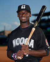 Chattanooga Lookouts Taylor Trammell (7) poses for a photo before a Southern League game against the Birmingham Barons on May 2, 2019 at Regions Field in Birmingham, Alabama.  Birmingham defeated Chattanooga 4-2.  (Mike Janes/Four Seam Images)