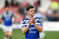 Freddie Burns of Bath Rugby looks on after the match. Gallagher Premiership match, between Gloucester Rugby and Bath Rugby on April 13, 2019 at Kingsholm Stadium in Gloucester, England. Photo by: Patrick Khachfe / Onside Images