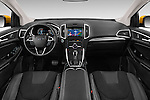 Stock photo of straight dashboard view of 2017 Ford Edge Sport-4wd 5 Door Suv Dashboard
