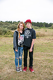 USA, Washington State, Long Beach Peninsula, hip young couple at the International Kite Festival