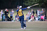 Simon Harmer of Essex throws everything at the ball during Upminster CC vs Essex CCC, Benefit Match Cricket at Upminster Park on 8th September 2019