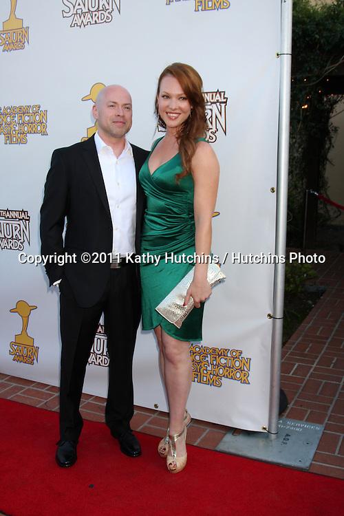 LOS ANGELES - JUN 23:  Erin Cummings arriving at the 2011 Saturn Awards  at Castaways on June 23, 2011 in Burbank, CA