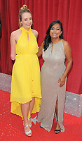 Cerrie Burnell and Bharti Patel at the British Soap Awards 2018, Hackney Town Hall, Mare Street, London, England, UK, on Saturday 02 June 2018.<br /> CAP/CAN<br /> &copy;CAN/Capital Pictures