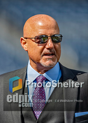 5 April 2018: Washington Nationals General Manager and President of Baseball Operations Mike Rizzo chats with members of the press prior to the Home Opening Game against the New York Mets at Nationals Park in Washington, DC. Earlier in the day, the Nationals agreed to a two-year contract extension with Rizzo, keeping him with the club through the 2020 season. The Mets defeated the Nationals 8-2 in the first game of their 3-game series. Mandatory Credit: Ed Wolfstein Photo *** RAW (NEF) Image File Available ***