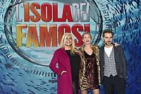 Alessia Marcuzzi-Mara Venier-Daniele Bossari<br /> Milano 18/01/2018 - photocall trasmissione Tv ' L'isola dei famosi' / foto Daniele Buffa/Image/Insidefoto