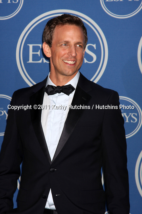 LOS ANGELES - JUL 13:  Seth Meyers in the Press Room of the 2011 ESPY Awards at Nokia Theater at LA Live on July 13, 2011 in Los Angeles, CA