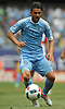 David Villa #7, NYC Football Club captain, looks to gain possession a Major League Soccer match against the New York Red Bulls at Yankee Stadium on Sunday, July 3, 2016. NYCFC won by a score of 2-0.