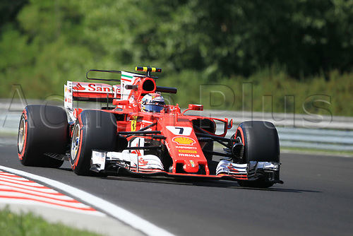 July 27th 2017, Hungaroring, Mogyoród, Hungary; Formula One Grand Prix of Hungary, free practise sessions; Kimi Raikkonen - Scuderia Ferrari SF70H