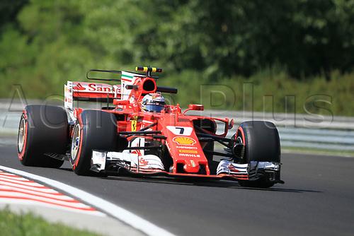 July 27th 2017, Hungaroring, Mogyoród, Hungary; Formula One Grand Prix of Hungary, free practise sessions; Kimi Raikkonen - Scuderia Ferrari SF70H