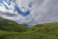 Aleutians world war II national historic area, Mt. Ballyhoo, Amaknak Island, Dutch Harbor, Aleutian Islands, Alaska.