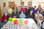 NAME TO CHECK.BIRTHDAY: Winifred Millward from Listowel (front centre) who celebrated her 100th birthday at a party in the Listowel Day Care Centre last Friday, pictured here with front l-r: Kathleen Brennan, Patrick Griffin, Winifred Millward, Sean Curtin, Bernie O'Connor. Back l-r: Kathleen McElligott, Bridie May ???, Isobel McDonagh, Mary Friedel, Bridie O'Mahony, Kathleen O'Brien, Mary Mahony, Tadhg Lynch, Gloria Whitensall, Shirley Styles, Bridget Kelly.