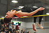 """Vladislav Cullinane of Babylon clears the bar at six feet in the high jump event during the Suffolk County varsity boys track and field small schools championship at Suffolk Community College Grant Campus in Brentwood on Friday, Feb. 2, 2018. He won with a jump of 6'6""""."""