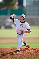 Logan Jones during the WWBA World Championship at the Roger Dean Complex on October 19, 2018 in Jupiter, Florida.  Logan Jones is a right handed pitcher from Milton, Georgia who attends Milton High School.  (Mike Janes/Four Seam Images)