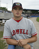 August 7, 2004:  Pitcher Matt Goodson of the Lowell Spinners, Single-A NY-Penn League affiliate of the Boston Red Sox, during a game at Dwyer Stadium in Batavia, NY.  Photo by:  Mike Janes/Four Seam Images