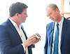 Tim Farron joins Vince Cable, Liberal Democrat Shadow Chancellor and candidate for Twickenham, on a visit to the HQ of Graze, one of the 100 fastest growing companies in the UK, <br /> <br /> The met Graze CEO Anthony Fletcher<br /> <br /> Tim Farron <br /> <br /> <br /> <br /> Photograph by Elliott Franks <br /> Image licensed to Elliott Franks Photography Services